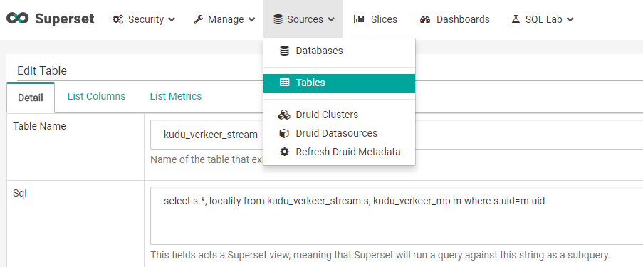 Using Superset with Kudu – Big data reflections and experiments